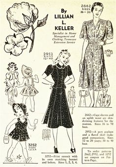 what-i-found: Mail Order Patterns from The Progressive Farmer - 1940