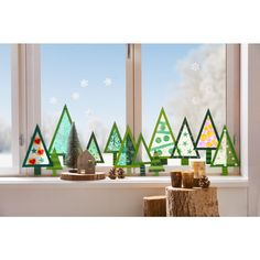 """Sachenmacher """"Fensterwald"""" The Effective Pictures We Offer You About letter crafts decor initials A Wall Christmas Tree, Christmas Window Decorations, Christmas Scenes, Christmas Crafts For Kids, Kids Christmas, Holiday Crafts, Holiday Decor, Theme Noel, Letter A Crafts"""