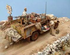 Camión Chevrolet del  LRDG en el Desierto - Escala 1/35