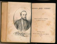 Book Songs and Verses 1901 by Philip Lorimer.  A tribute to the memory of the Australian Bush Poet.  This is a great story you will be intrigued.