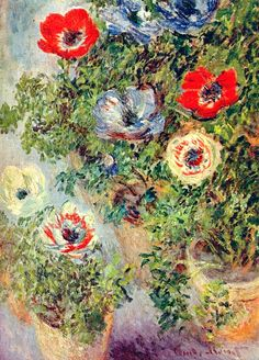 "Claude Monet; Painting, ""Still llife with Anemones"", 1885"