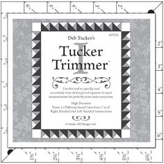 """Tucker Trimmer 1 [][] Trims up to 7"""" blocks at half inch increments. The Tucker Trimmer 2 does the ¼"""" and ¾"""" sizes."""