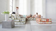 Bizzarto. Modułowa kanapa Fancy. Nawiązanie do fantastycznych kanap Roche Bobois. Dobre rozwiazanie dla dużych przestrzeni, które pozwalają na pełne wykorzystanie opcji kanapy. #kanapy #sofy #modułowesofy #bizzarto #fancy