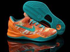 Nike Zoom Kobe 8 Orange Jade Blue