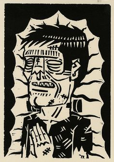 Frankenstein by Iain Burke Arte Horror, Horror Art, Frankenstein Art, Horror Drawing, Horror Themes, Halloween Artwork, Beton Diy, Famous Monsters, Classic Monsters