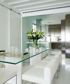 Luxurious and classy, if you love a lot of glass contemporary furniture.  Since I do, I love this!