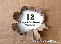 12 Ripped Cardboard Textures