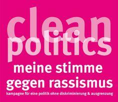 """HOSI Wien unterstützt Clean Politics-Kampagne  Knapp fünf Wochen vor der Nationalratswahl tritt die von ZARA – Zivilcourage und Antirassismusarbeit initiierte und u. a. von der HOSI Wien unterstützte Kampagne """"Clean Politics – meine Stimme gegen Rassismus"""" in die entscheidende Phase."""