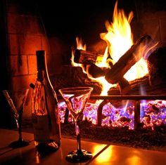 Relax with a glass of wine by a roaring fire (Picture: Steven S/Flickr)