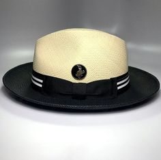 Trendy Long Lasting Two Tone 2 7//8 in Wide Brim Wool Felt Dress Hat for Men H-64