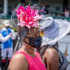 Another Kentucky Derby favorite - fascinators! This one is floral with pink and black, perfect for the Kentucky Oaks and Derby! Floral Fascinators, Kentucky Derby Hats, Photo And Video, Pink, Instagram, Black, Black People, Pink Hair, Roses