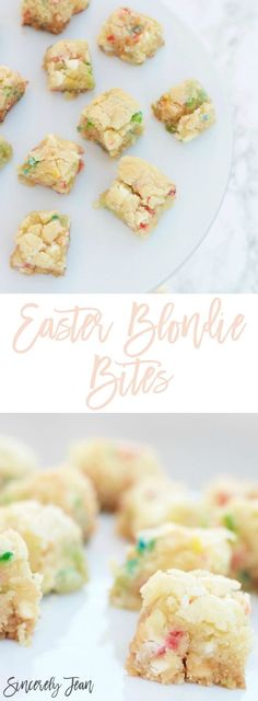 Easter Dessert - Easter Blondie Bites - dessert, easy, simple, holiday, easter | www.SincerelyJean.com