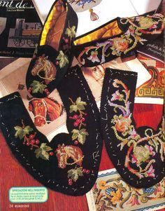 Вышивка крестом для обуви
