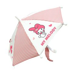 My Melody gingham piece replacement miniature umbrella