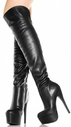 Thigh High Boots, High Heel Boots, Over The Knee Boots, Heeled Boots, Sexy High Heels, Sexy Boots, Black Boots, High Leather Boots, Black Leather