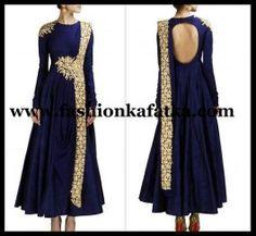 FKF Designer Blue Floor Length Anarkali | Bollywood Anarkali Suits