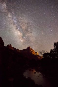 Milky way over the Watchman - Zion National Park