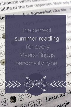 The perfect summer reading for every Myers-Briggs personality type. #mbti