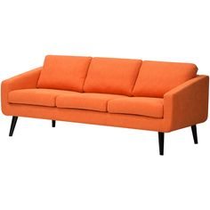 móveis incríveis -------------------------- Danish Sofa - kind of loving the orange