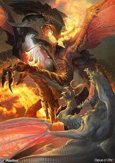Light dragon vs demon dragon