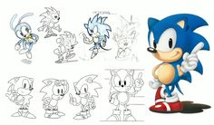 New concept art for Sonic & friends through the ages shown at 25th anniversary event - NeoGAF