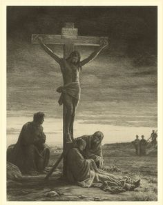 Sketch of the Crucifixion of Christ by Carl Bloch.