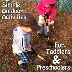 Simple Outdoor Activities for Toddlers & Preschoolers