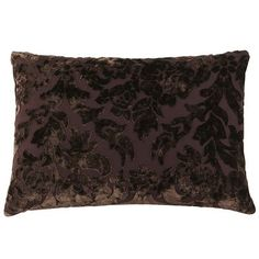 Velvet Damask Pillow - Chocolate.  Pier one