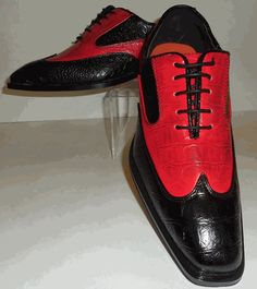 Mens Black, Red Croco Look Spectator Style Dress Shoes Antonio Cerrelli 6571 Best Shoes For Men, Formal Shoes For Men, Red Shoes, Men's Shoes, Shoe Boots, Gents Fashion, Types Of Shoes, A Good Man, Oxford Shoes