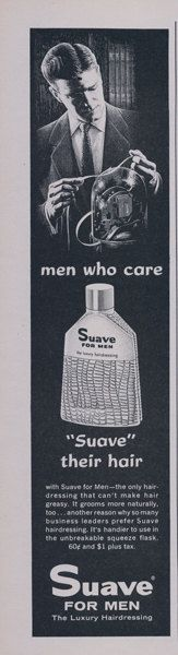 1958 Suave for Men Hairdressing Ad Men Who Car by AdVintageCom