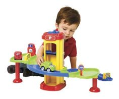 One Step Ahead Exclusive! This sturdy, toddler-friendly parking garage is loaded with exciting features—working elevator, movable gates, gas pump—but scaled-down and simplified for small fry. Toys For Autistic Children, Kids Toys, Imagination Toys, Play Kitchen Sets, Special Needs Kids, Gifts For Boys, Boy Gifts, Pretend Play, Educational Toys