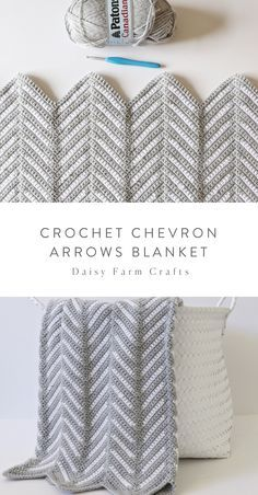 Daisy Farm Crafts Daisy Farm Crafts,DIY & Crafts Free Pattern - Crochet Chevron Arrows Blanket projects knitting bags for beginners videos Crochet Home, Knit Or Crochet, Crochet Stitches, Crotchet, Easy Knitting Projects, Crochet Projects, Knitting Ideas, Crochet Ideas, Crochet Gratis