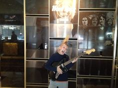 We found this pint-sized guest and future Hard Rocker jamming out in our lobby!