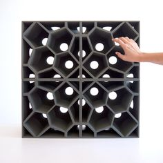 The Picoroco Block™ is a modular printed building block for wall fabrication printed from sand. Each block is and dimensional. Impression 3d, Wall Patterns, Textures Patterns, 3d Printed Building, Le Ranch, Stylo 3d, Geometric 3d, Digital Fabrication, 3d Wall Panels