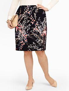 Talbots - Wispy Floral Pencil Skirt | Skirts | Woman