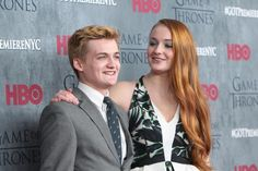 Gleeson pals around with co-star Sophie Turner at the New York City premiere of 'Gameo f Thrones' last month.