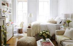 Farven hvid åbner et lille hjem