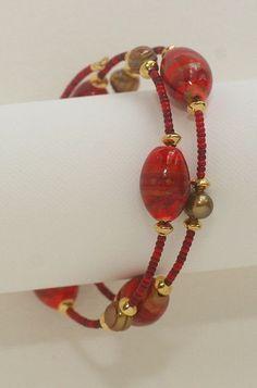 watercolor beads / jewelry - january 2013 by gingerblue, via Flickr #beadedjewelry