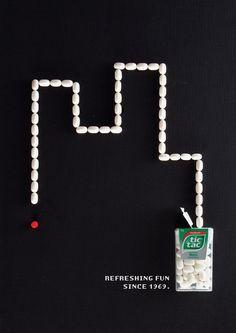 Playful Tic Tac Ads Pay Homage To Retro Video Games - DesignTAXI.com