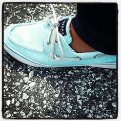 Tiffany blue Sperrys!