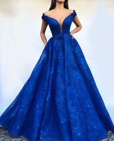 333 Mejores Imágenes De Vestidos Azul Rey Largos En 2019