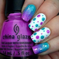 #purple #turquoise #nails #nailart #naildesign