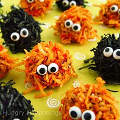Monster cheese balls - This is an adorable idea! And there are ideas for other celebrations/holidays as well. Cute!