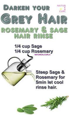 Herbal Teas for Beauty Sleep Darken Hair Naturally, How To Darken Hair, Natural Hair Care Tips, Natural Hair Styles, Grey Hair Remedies, Diy Hair Dye, Hair Rinse, Diy Hairstyles, Haircuts