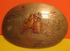 VINTAGE COMSTOCK BARREL RACING German Silver Belt Buckle USA Made MAKE OFFER $195.00 or Best Offer Free shippingItem image