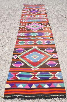 Vintage Decorative Colorfull LONG High Quality Wool Kilim Rug X
