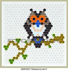 disegni di gufi per mosaici - Cerca con Google