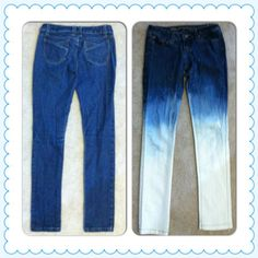 diy ombre jeans