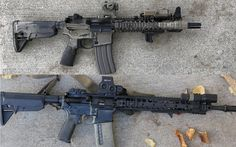The Aimpoint vs EOTech debate that never ends. Two large optic companies with military and law enforcement contracts. Which is best? Ar Pistol Build, Guns And Ammo, Rifles, Law Enforcement, Airsoft, Firearms, Weapons, Pistols, Military