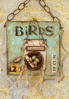 Collage Altered ART Assemblage Bird NEST EGGS | Assemblages, Bird ...